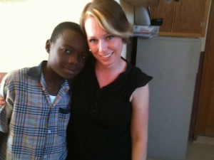 Haiti_Steph with Woody